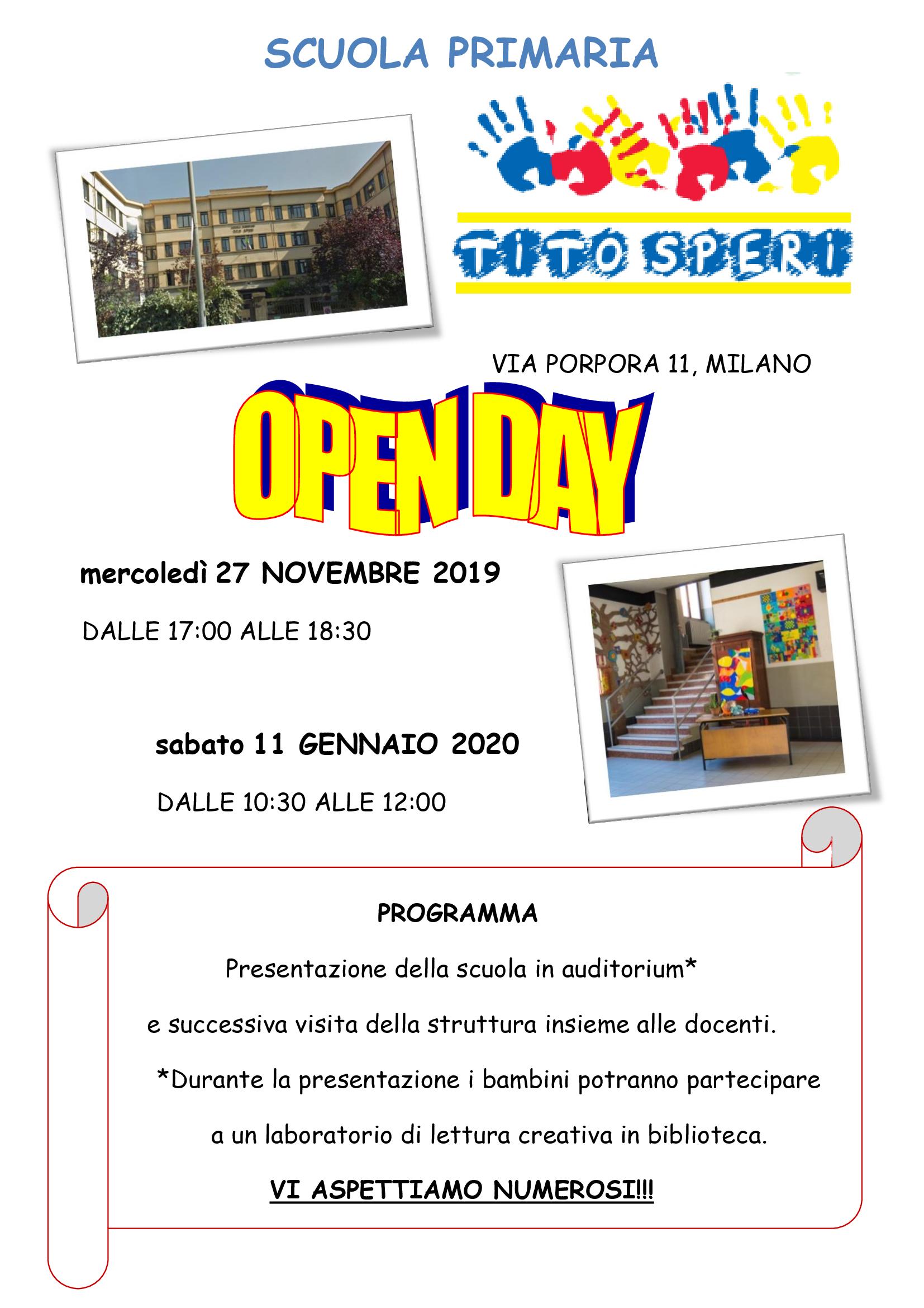 OPEN DAY 2019-2020 scuola primaria