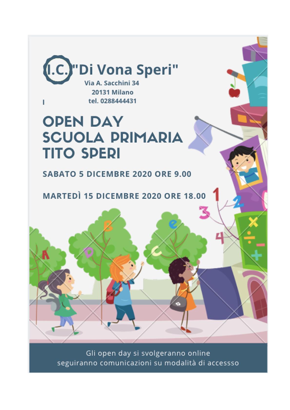 open day primaria 20 -21